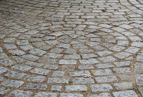 Pavers, Road, Roadway, Stones, Soil