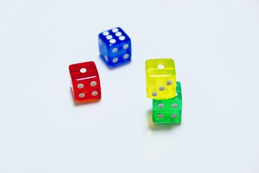 Dices, Small, Colorful, Play, Random, Numbers, Lottery
