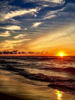 Beach, Sunset, Pure Michigan, Michigan
