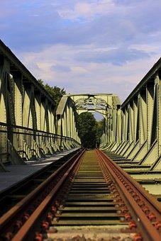 Railway Bridge, Metal, Architecture, Railway, Steel