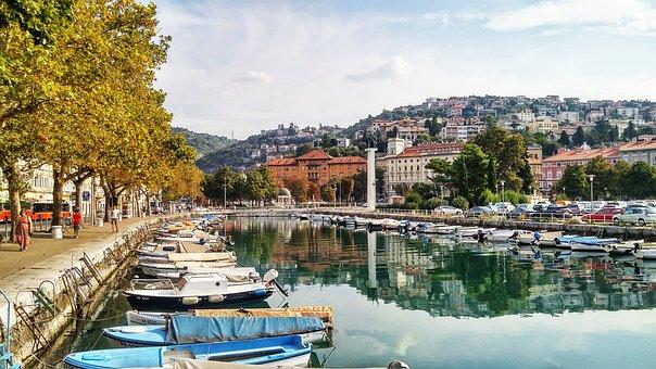 Rijeka, Croatia, Port, City, Landscape