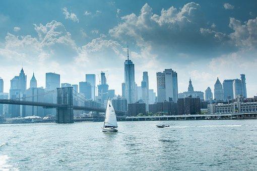 Sail, Skyline, Skyline New York, Newyork, Travel