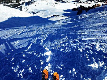 Ski, Skiing, Mountain, Snow, Outdoors, Adventure, Cold