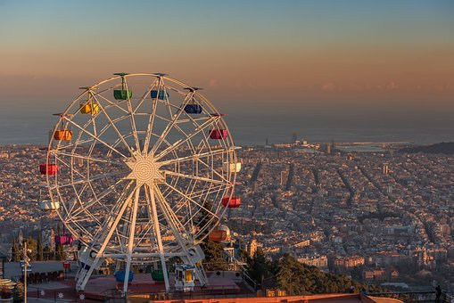 Barcelona, Tibidabo, Spain, Giant Ferris Wheel