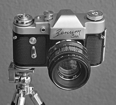 Vintage Camera, Retro Camera, Film Camera, Old, Used