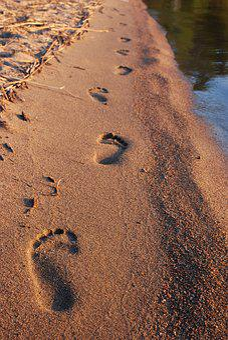 Steps, Sand, Step, Beach, Footprint, Walk, Track, Sea