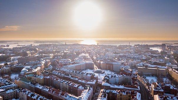 Helsinki, Finnish, Temple Square, Church, Winter