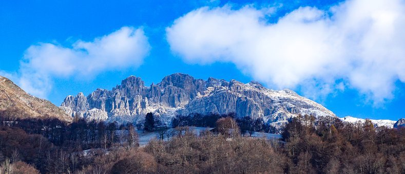 Mountains, The Height, Winter, Tops, Landscape