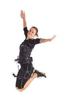Woman, Fitness, Ems, Ems Training, Aq8, Wireless Ems