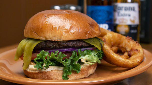 Hamburger, Fast Food, American, Burger, Lunch, Grilled