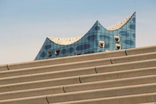 Elbe Philharmonic Hall, Hamburg, Stairs, Background