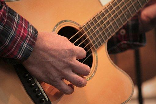 Guitar, Hand, Music, Musician, Instrument, Play, Band