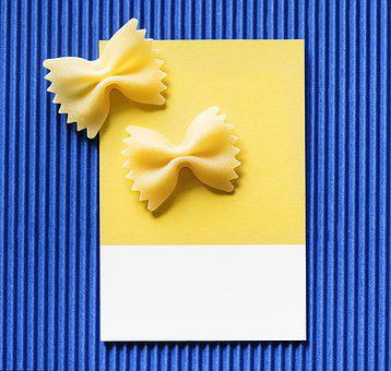 Background, Blue, Bow, Bow Tie, Card, Colorful