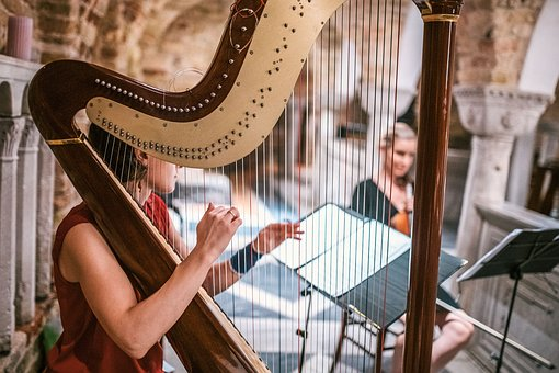 Harp, Music, Classical, Musician, Hands, Playing