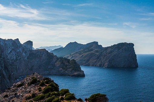 Cap, De, Formentor, Mallorca, Sea, Landscape, Cliff