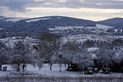 Winter, Sky, Landscape, Nature, Snow, Cold, Clouds