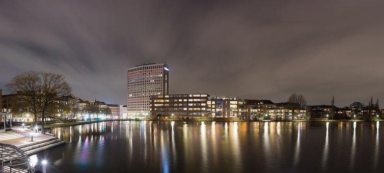 City, Cityscape, Copenhagen, Denmark, High-rise, Lake