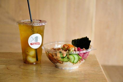 Poke Bowl, Poke, Ice Tea, Tea, Food, Drink, Meal