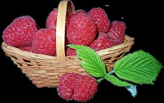 Raspberries, Fruit, Basket, Food, Sweet, Nutrition