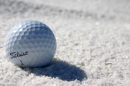 Golf, Ball, Sand