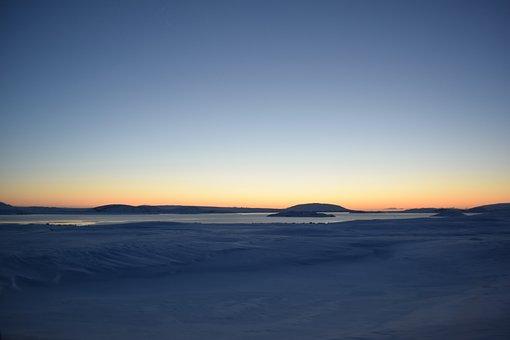 Tundra, Iceland, Snow, Sunrise, Vast, Land, Ice