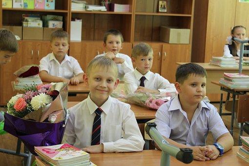 Study, The Day Of Knowledge, Parta, Class, Bouquet, Joy