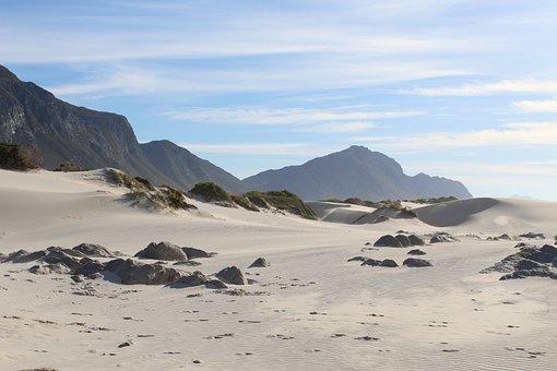 Beach, Sand, Dunes, Ocean, Sky, Landscape, Seascape