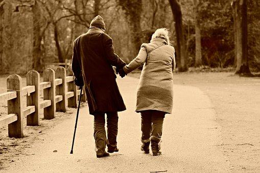 People, Man, Woman, Couple, Walking, Side By Side