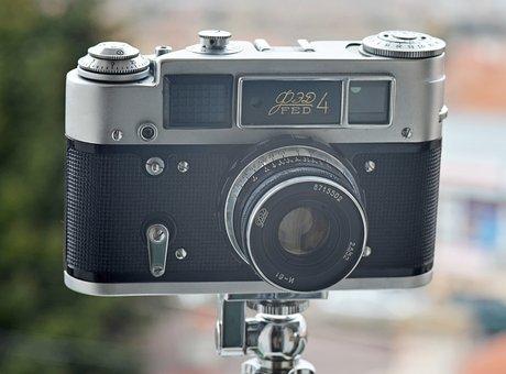 Vintage, Retro, Camera, Analog, Film, Photography, Lens