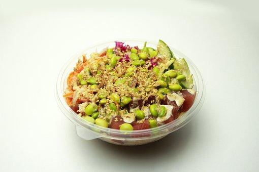 Tuna Poke, Poke Bowl, Salad, Healthy Food