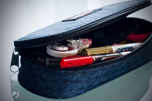 Case, Pen Holder, Pencils, Pens, School, Studio