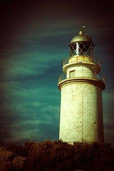 Lighthouse, Mallorca, Cap, De, Formentor, Sea, Coast