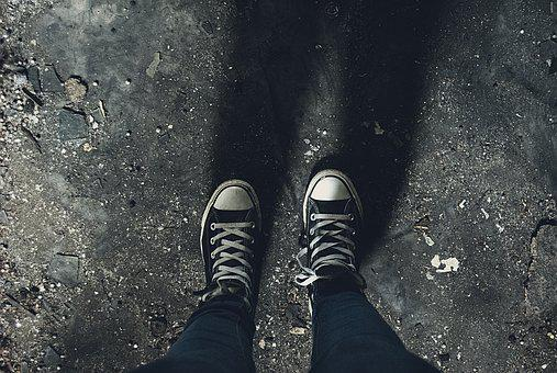 Dark, Shoes, Shadow, Sneakers