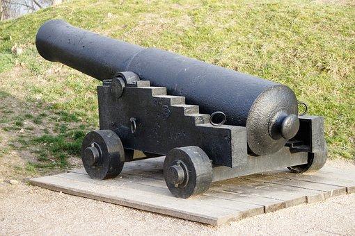 Cannon, Ship, 19th Century, Battle