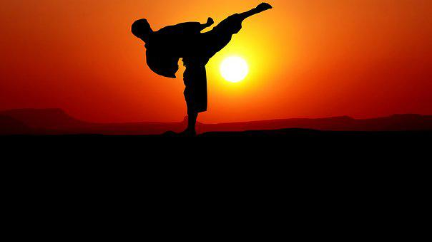 Karate, Sunset, Nature, Harmony, Silhouette, The Year