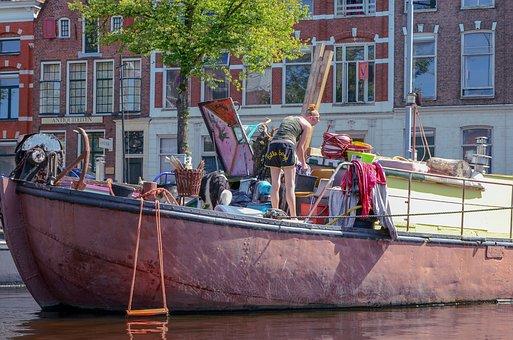 Groningen, Town, Canal, Street Scene, Old, Center, Art