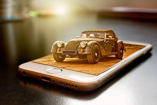 Manipulation, Car, Automobile, Classic, Vintage, Retro