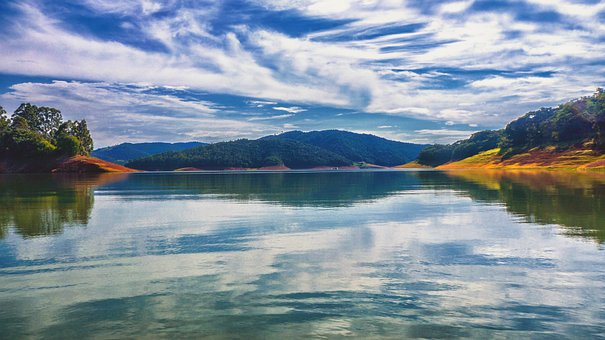 Water, Dam, Landscape, Brazil, Reservoir, Lake, Nature