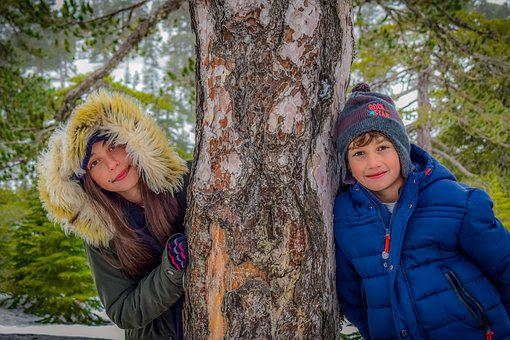 Kids, Snow, Boy And Girl, Winter, Children, Cold, Young