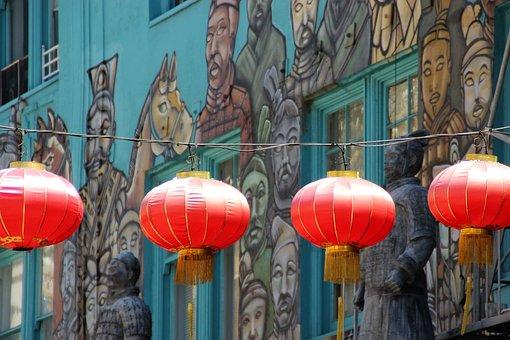 Chinese Lanterns, Chinatown, Los Angeles, America