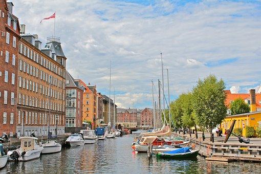 Copenhagen, Denmark, City, Architecture, Houses