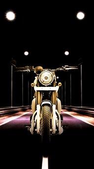 Splash Screen, Motorbike, Background, Mobile Screen
