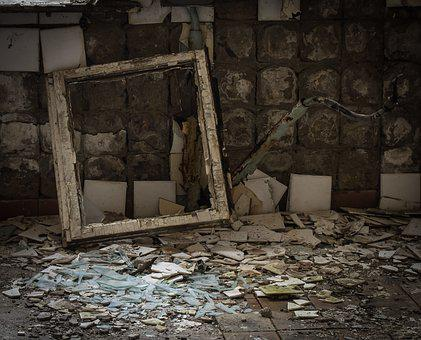 Break Up, The Ruins Of The Window Frame, Building
