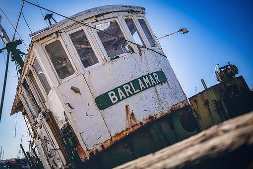 Ship, Wreck, Stranded, Bridge, Boat, Broken, Rust