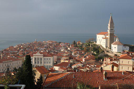 Slovenia, Piran, Architecture, Mediterranean, City