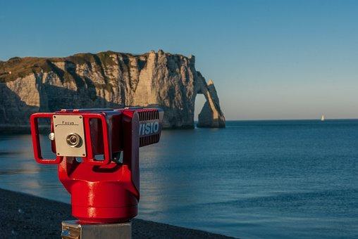 Etretat, Needle, Creuse, Normandy, Cliff, France, Sea