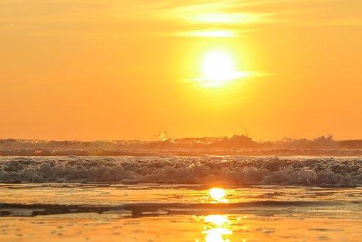 Beach, Wind, Sea, Sunset, Landscape, Clouds, Nature