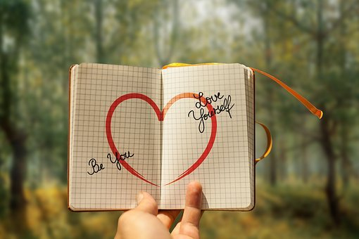 Self Love, Heart, Diary, Hand, Keep, Forest