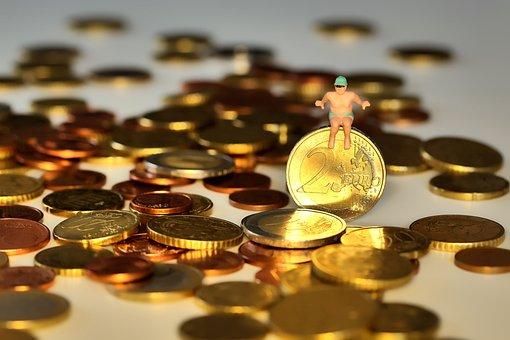Money, Swim, In-the-money Swim, Empire, Coins, Euro
