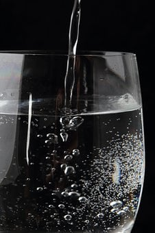 Water Glass, Mineral Water, Glass, Water